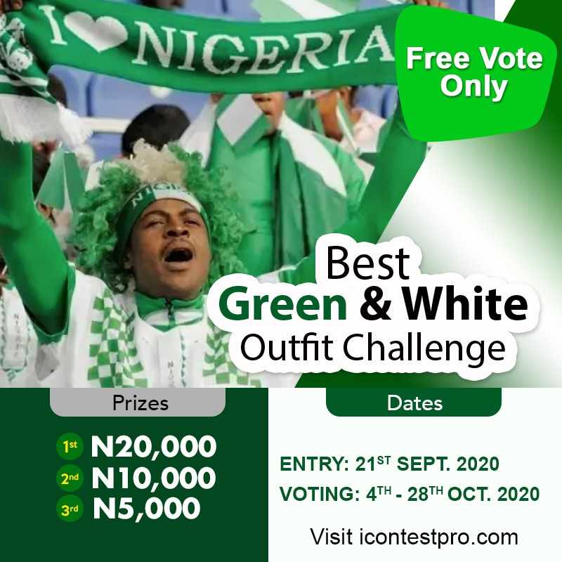 Best Green And White Outfit Challenge